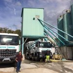 La flotte de camions de l'entreprise Béton Theron